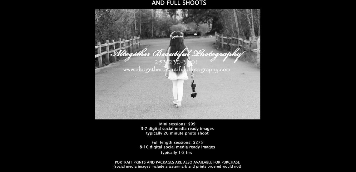 Now booking fall photo sessions